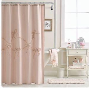 LC Lauren Conrad Bow Shower Curtain & Hooks
